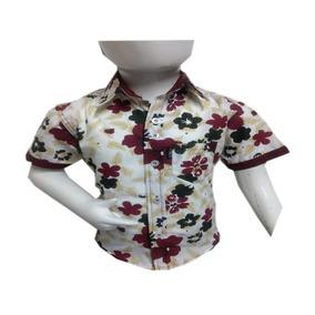 Camisa Mickey Niño Fresca Vestir Poliéster Moda Manga Corta