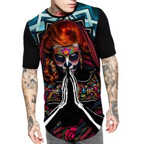 78f5dbe40e78c Camiseta Catrina Skull - Camisetas para Masculino no Mercado Livre ...