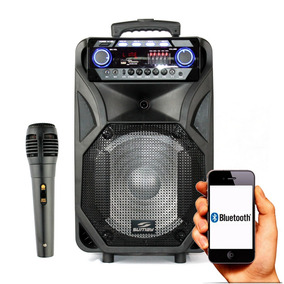 Caixa De Som Bluetooth Sumay 4000w Amplificada Multiuso
