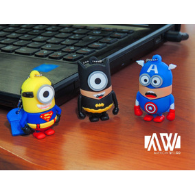 Pen Drive Usb Super Heroes Minions 16 Gb 3.00