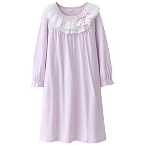 Dgaga Kids Girls Cotton Lace Camison De Manga Larga Ropa De