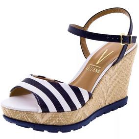 71114395a Anabela Da Vizzano Listrada - Sapatos no Mercado Livre Brasil