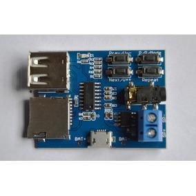Placa Módulo Mp3 Usb/sd Card, Amplificador 3w, Fone