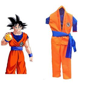 Disfraz Goku Dragon Ball Z -talla 4 A 14 Años Halloween Ofer