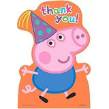 Postal De La Fiesta De Cumpleaños De Apscan Peppa Pig Tarjet