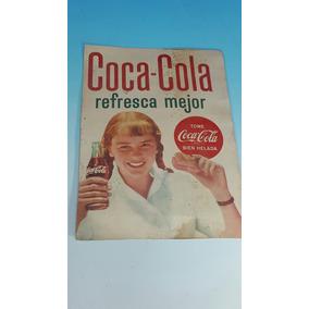 Antiguo Cartel De Coca Cola Publicidad Original 1960