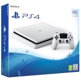 Playstation 4 Branco Slim Sony 500gb Ps4 Vitrine