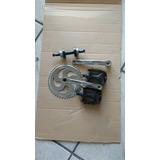 Kit Transforme 45mm Bike Eixo +pedivela C/ Coroa +pedal 9/16