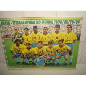 Quadro Poster Brasil Tetra Campeão Do Mundo 1994 -