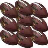 d987bb4d9a Pack 10 Bolas Futebol Americano Wilson Nfl Medidas Oficiais!