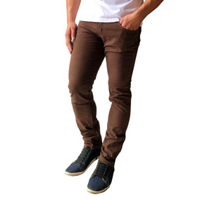 Kit 4 Calça Jeans Sarja Masculina Skinny C/ Lycra Colorida