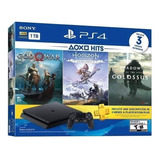 Ps4 Slim Sony 1tb Playstation 4 + 1 Joystick + 3 Juegos Hits