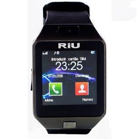 Relógio Smart Watch Riu Faz Chamadas Telefônicas Mp3 Mp4 Pre