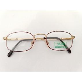 Armação Benetton Dourada Com Detalhes Oculos - Óculos no Mercado ... 4744fe17b4