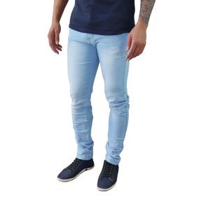 Kit 4 Calças Jeans Sarja Masculina Slim Skinny C Lycra