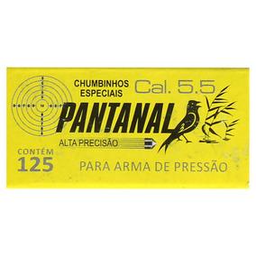 Chumbinho Munição Carabina De Pressão Pantanal 5.5mm 125un.