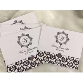 100 Convite Debutante Casamento Aniversário Luxo 1 Real Cada