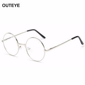 Armação Óculos Metal Redondo Sem Grau Acessório Descanso Bh 8346400318