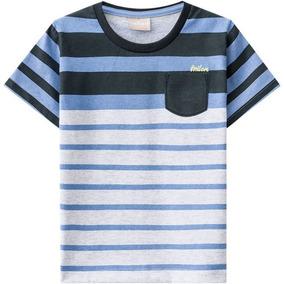 Camiseta Infantil Masculina Meia Malha Milon