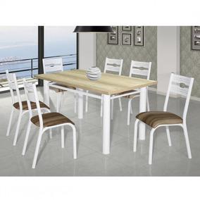 Conjunto Mesa Com 6 Cadeiras Luna Clássica Ciplafe Jdwt
