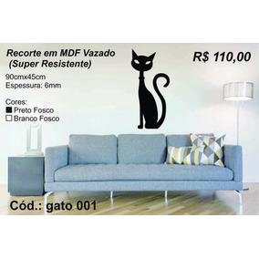 Gato Em Mdf Vazado - Artesanato no Mercado Livre Brasil 6eaddfd42f