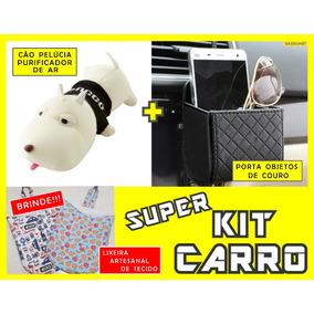 Kit Carro Porta Objetos + Purificador De Ar + Lixeira