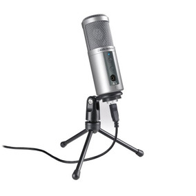 Atr2500-usb Microfone Usb Condensador Cardióide Computador