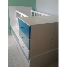 Cuna Para Bebes Convertiblecon Mesas De Noche Y Cama Gaveta