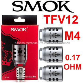3pc Bobina Smok Tfv12 Stick Prince M4 0.17 Ohm 100% Original