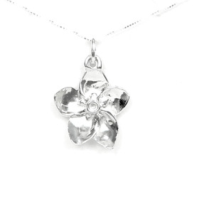 Collar Forget Me Not Flower Regalo De Plata Esterlina En Ca