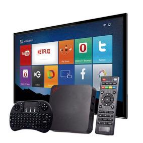 Tv Box Smart 2gb Ram 16gb Rom Netflix Android 7.1 + Teclado