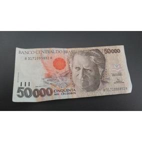 Cédula 50000 Cinquenta Mil Cruzeiros Câmara Escudo