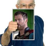 Heróis Da Marvel Thor Ragnarok Poster Grande 30x21cm 06