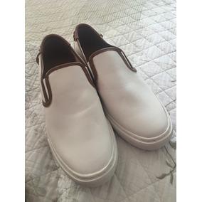 Sneakers Tenis Coach De Piel Color Blanco