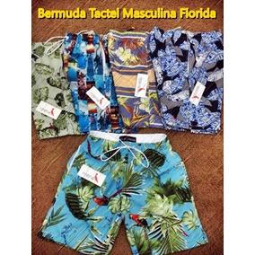 Kit 3 Bermudas Tactel Masculina Florida Top Top