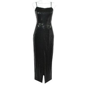 Counture Fashion Vestido Negro Lentejuelas S Msrp $6000