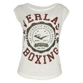 e055041cb8 Camiseta Feminina Everlast Manga Curta Off White Tamanho Gg