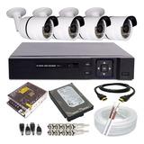 Sistema 04 Câmeras Segurança 1.3 Megapixel Alta Resolução Hd