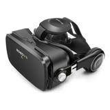 Óculos Virtual 3d Vr Bobo Z4 Preto Original Com Fone