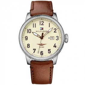 945b15756f6 Relógio Tommy Hilfiger Couro Crocodilo Marrom 1790874 - Relógios De ...