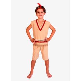 Disfraz Infantil Indio T3 Vincha Plumas Candela Patrios 3579 473f3e6287c