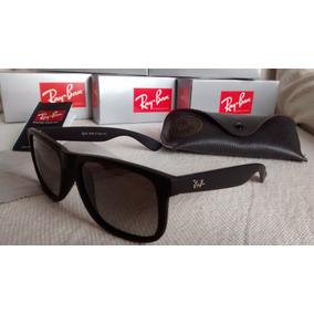 3144a28e54277 Ray Ban Justin Preto Fosco - Óculos no Mercado Livre Brasil