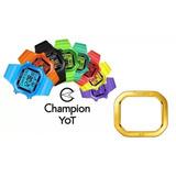 089f2dc00e7 Aro Aluminio Relogio Champion Yot Pa40181y Amarelo Metalico