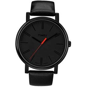 3efed8fa75cf Timex Easy Reader Correa De Cuero Negro Reloj Para Hombre T2