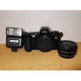 Camara Fotográfica Canon Eos Rebel X /cuerpo+flash+tele(01)