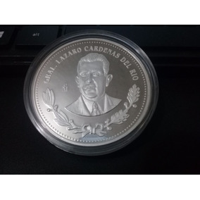 Preciosa Medalla De Lazaro Cárdenas 2 Oz Plata Pura