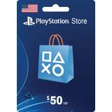 Tarjeta Psn Card 50 Dolares Usa Digital - Prepagochile