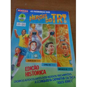 Album Heróis Do Tri Incompleto Com Mais De 160 Figurinhas