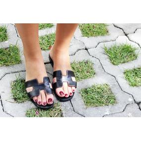 29078189a81 Sandalia Hermes Preta - Sapatos no Mercado Livre Brasil