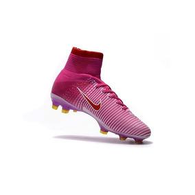aaa867b3c0 Chuteira Nike Mercurial Campo Rosa - Chuteiras Nike de Campo no ...